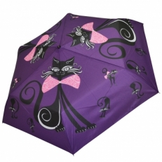 """Женский зонт Ame Yoke """"Кошка"""" фиолетовый"""