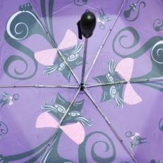 """Женский зонт Ame Yoke """"Кошка"""" фиолетовый фото-2"""