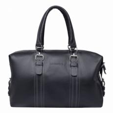 Дорожная кожаная сумка Olympus Black