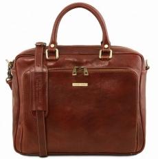 Pisa - Кожаный портфель для ноутбука с передним карманом