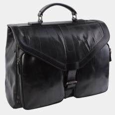 Кожаный портфель PF0020 черный