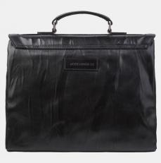 Кожаный портфель PF0020 черный фото-2