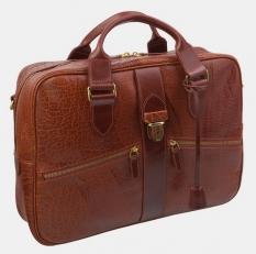 Деловая сумка PF0022 Cognac Bizon