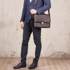 Портфель кожаный Gordon Brown фото-2