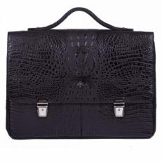 Кожаный портфель 9738 Bambino Black фото-2