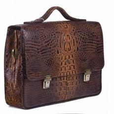 Кожаный портфель 9738 Bambino Oliva