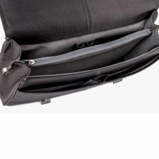 Кожаный портфель 9738 Polo Black фото-2