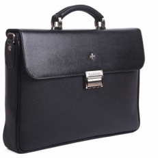 Кожаный портфель 9739 Black