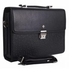 Небольшой портфель Vasheron 9744 Polo Black Ostrich фото-2