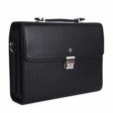 Небольшой портфель 9744 Polo Black Ostrich