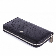 Кожаное портмоне Narvin 9591 Ostrich Black