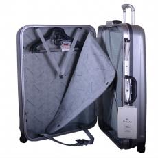 Серый чемодан 00373 фото-2