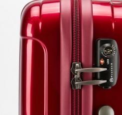 Большой чемодан 00973 красный фото-2