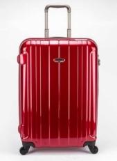 Красный пластиковый чемодан на молнии 00866 фото-2