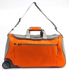 Сумка на колёсах 63198 оранжевая фото-2