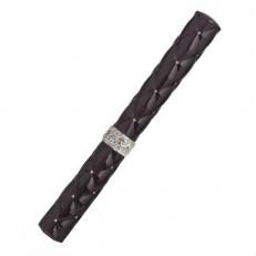 Серебряная ручка роллер R018115 черная
