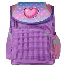 Пиксельный рюкзак для девочки с сердечками A-019