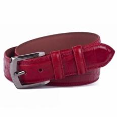 Брючный ремень Vasheron 34055 Croco Red