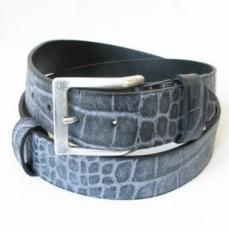 Ремень джинсовый 9402 голубой