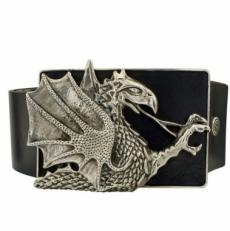 Ремень с серебряной пряжкой Дракон
