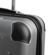 Большой серый пластиковый чемодан Ridge фото-2