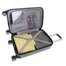 Маленький серый чемодан из abs пластика Ridge фото-2