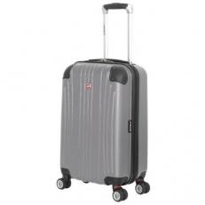 Маленький серый чемодан из abs пластика Ridge