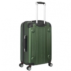 Зеленый пластковый чемодан среднего размера Ridge фото-2