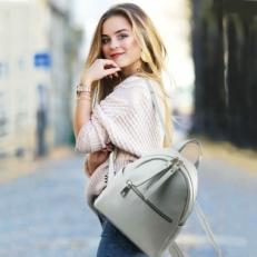 Светлый рюкзак натуральная кожа 5014