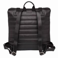 Кожаный черный рюкзак Parson фото-2