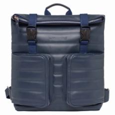 Кожаный синий рюкзак Parson