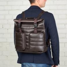 Кожаный коричневый рюкзак Parson фото-2