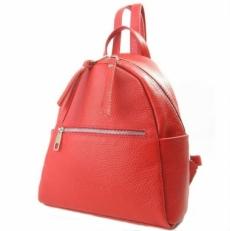Красный рюкзак из кожи 5014