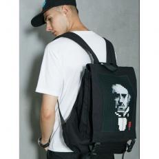 Черный пиксельный рюкзак BY-NB006