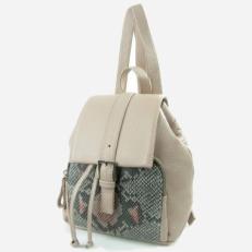 Рюкзак мини бежевый 5206