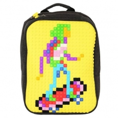 Современный пиксельный рюкзак WY-A001 желтый фото-2