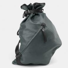 Зеленый кожаный торба-мешок R0003
