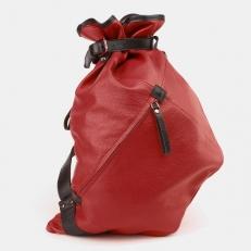 Красный кожаный рюкзак-мешок R0003