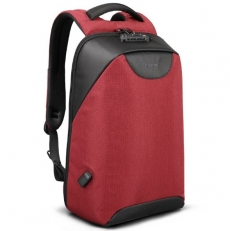 Красный мужской рюкзак с кодовым замком T-B3611