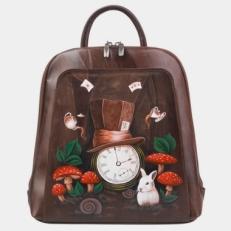 Рюкзак кожаный «Время страны чудес»
