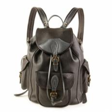 Рюкзак на кожаном шнурке Avangard черный