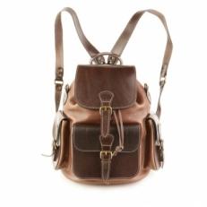 Рюкзак из натуральной кожи Classic Three коричневый