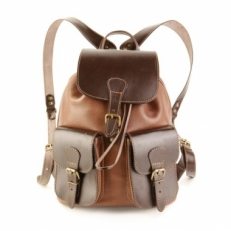 Рюкзак из светло-коричневой кожи Classic Two