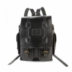 Мужской кожаный рюкзак Comandos черный