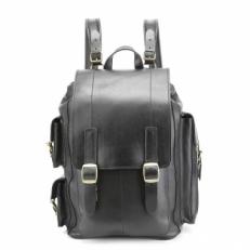 Кожаный рюкзак Defender черный