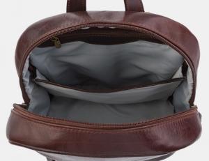 Коричневый кожаный рюкзак Ан Рэ фото-2