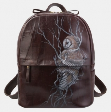 Коричневый кожаный рюкзак Ан Рэ