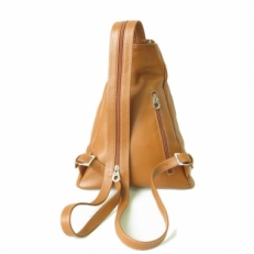 Кожаная сумка-рюкзак KSK 5105 рыжая фото-2
