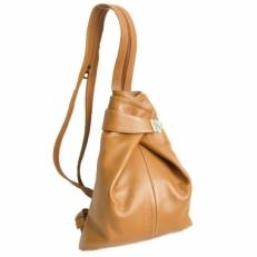 Кожаная сумка-рюкзак KSK 5105 рыжая