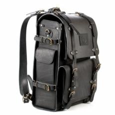 Походный кожаный рюкзак Legion черный